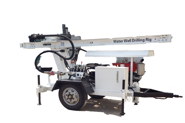 trailer mounted water well drilling righm db series is portable and easy to move which are designed to drill water cheaply easily and highly efficient